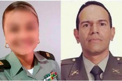 Teniente Kelly Sierra y el capitán Eduardo Merchán
