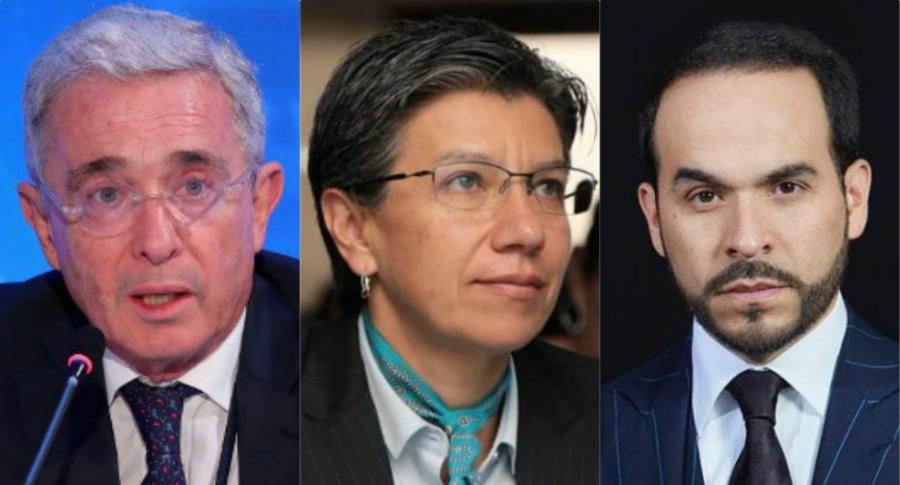 Álvaro Uribe, Claudia López y Abelardo de la Espriella