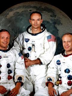 Dos de los tripulantes de primera misión a la Luna se reúnen, 50 años después