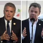 Iván Duque, Juan Manuel Santos y Álvaro Uribe.