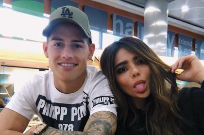 James Rodríguez, futbolista, y su hermana Juana Valentina.