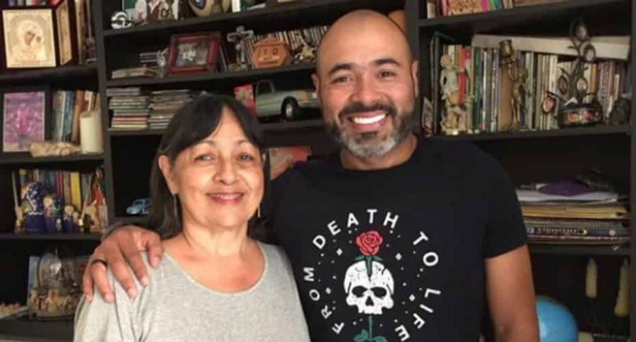 'Risaloca' y su mamá, Marina Gutiérrez.