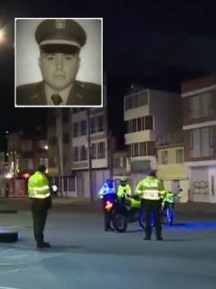 Asesinos de policía huían en camioneta que le habrían robado a una mujer, en Bogotá