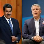 Nicolu00e1s Maduro e Ivu00e1n Duque