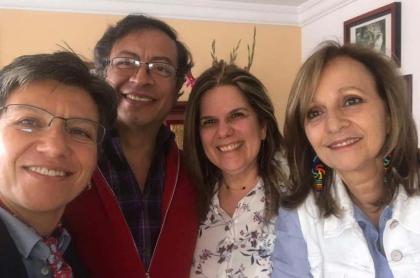 Claudia López Gustavo Petro María Mercedes Maldonado y Ángela Robledo