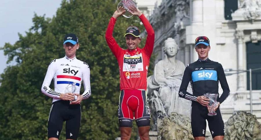 Froome en el podio de la Vuelta a España 2011