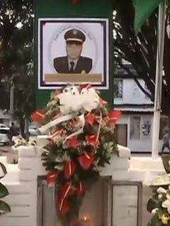 El suboficial Ever Patiño recibió homenaje en CAI donde trabajaba antes morir por disparo