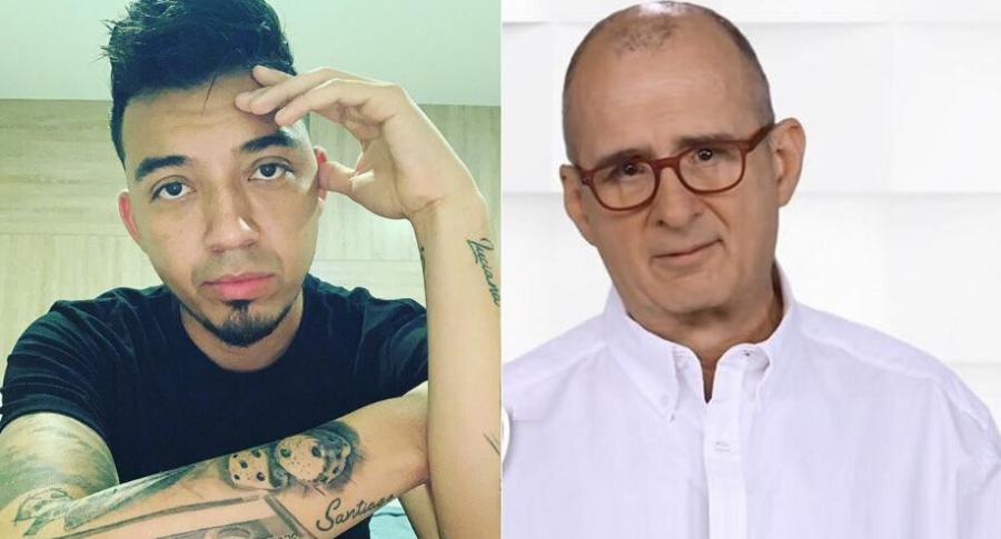 'Lokillo', humorista, y Jota Mario Valencia, presentador.