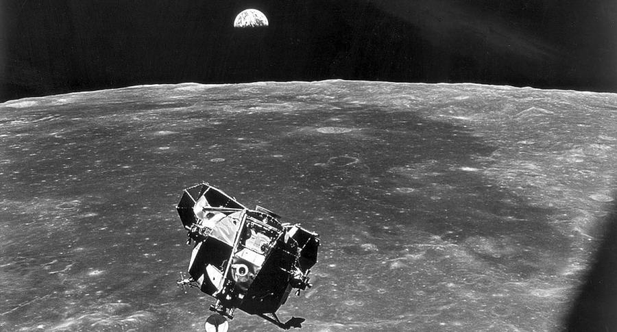 Módulo lunar que llevó a los astronautas a la Luna
