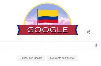 Doodle de Google por la Independencia de Colombia