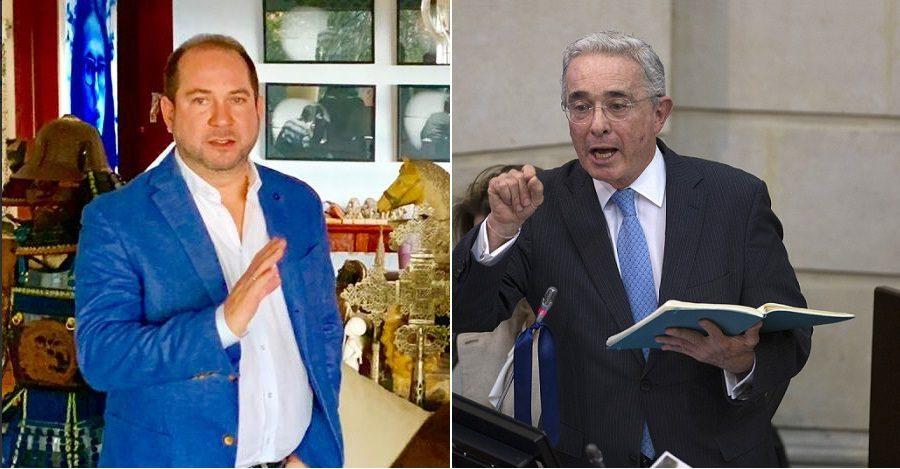 Lidio García y Álvaro Uribe, senadores.