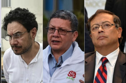 Gustavo Bolívar, Iván Cepeda, Pablo Catatumbo y Gustavo Petro.
