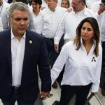 Iván Duque, presidente de Colombia, con su esposa, María Juliana Ruiz.