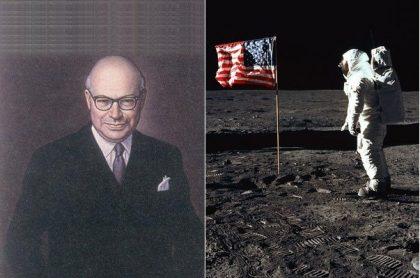 Retrato Carlos Lleras-Hombre en la luna