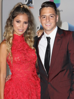 Karin Jiménez, modelo, y Santiago Arias, futbolista.