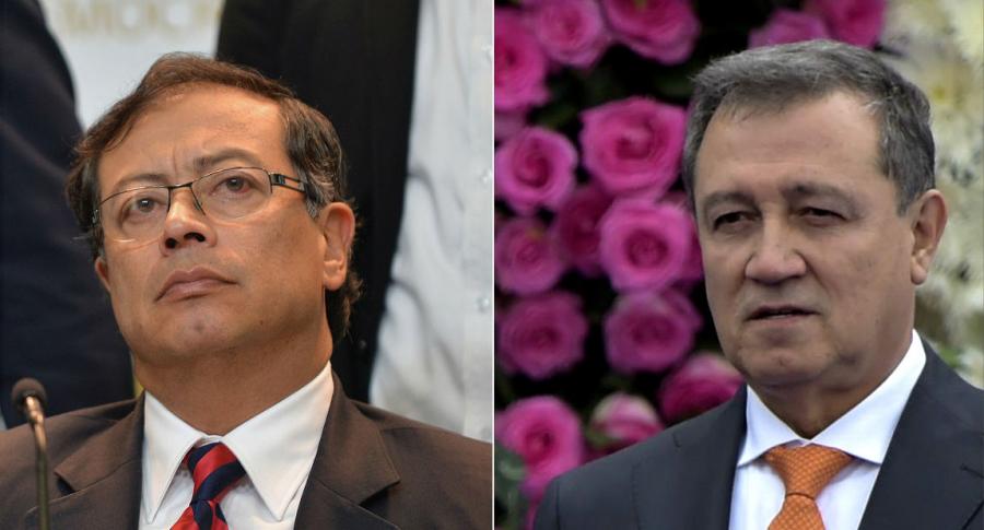 Gustavo Petro y Ernesto Macías, senadores.