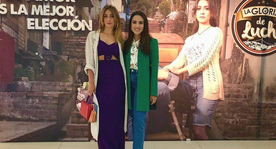 Verónica Orzoco y Katherine Escobar, actrices.