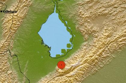 Mapa del epicentro del temblor