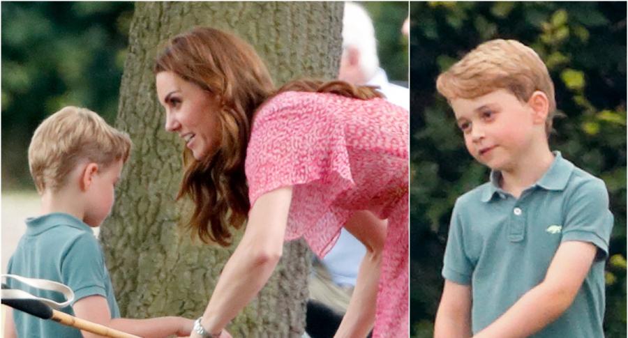 Príncipe George y su mamá Kate Middleton