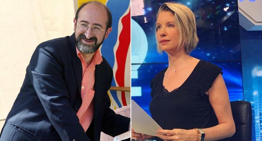 Juan Lozano, político, y Claudia Gurisatti, periodista.