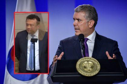 Eduardo Pulgar e Iván Duque