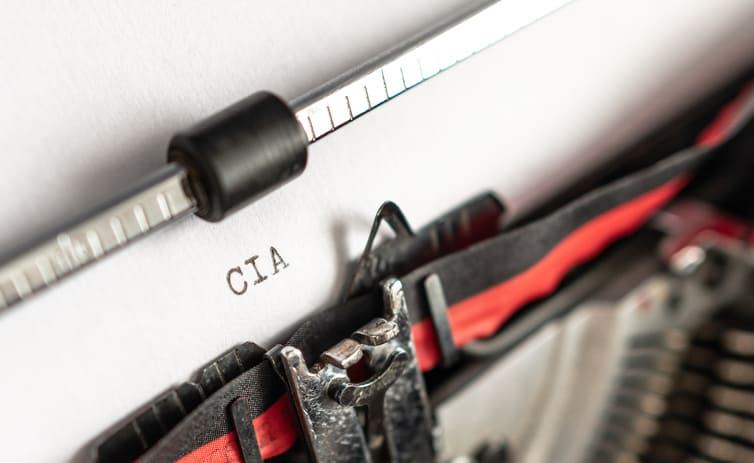 """Máquina de escribir clásica """"CIA"""