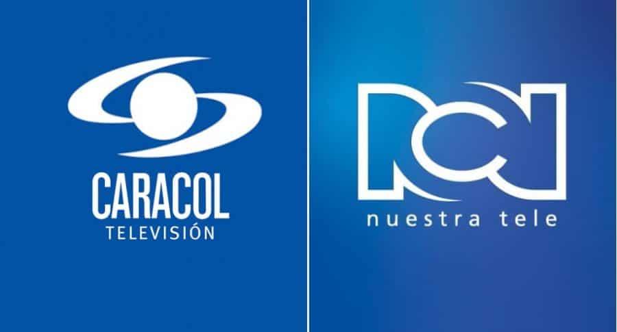 Logos de Caracol Televisión y Canal RCN.