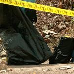Bolsa negra en escena de un crimen