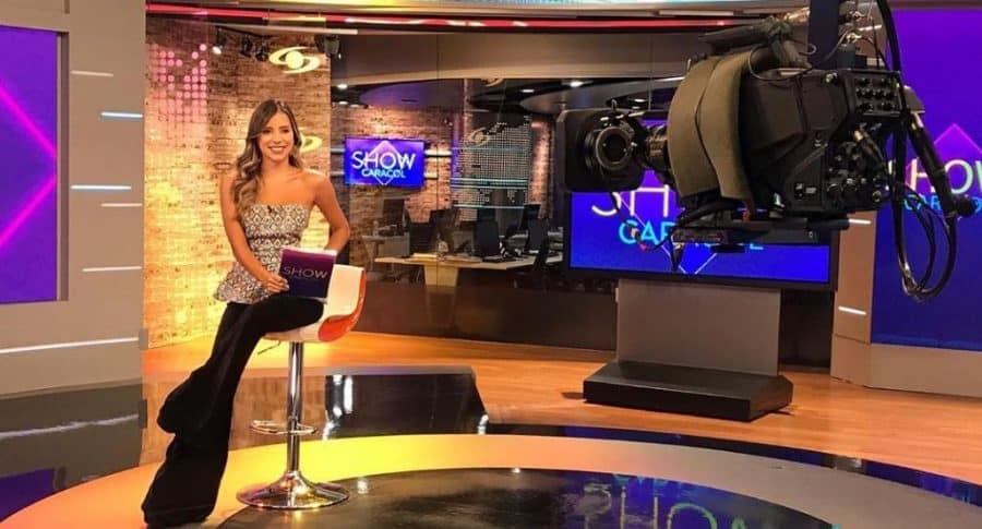 Manuela Cardona, presentadora.