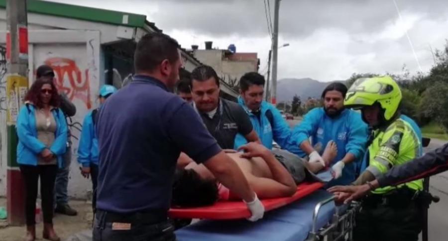 Rescate hombre herido