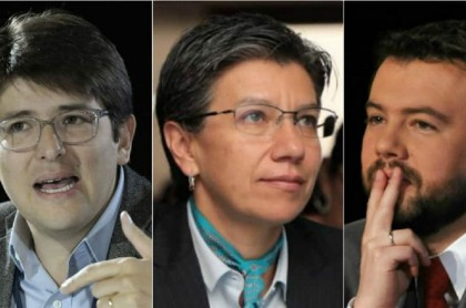 Miguel Uribe, Claudia López y Carlos Fernando Galán