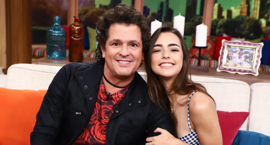 Carlos Vives y su hija Lucy Vives