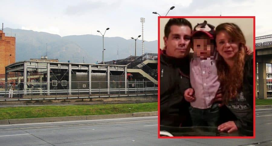 Estación Héroes y Samuel, menor afectado, y sus padres