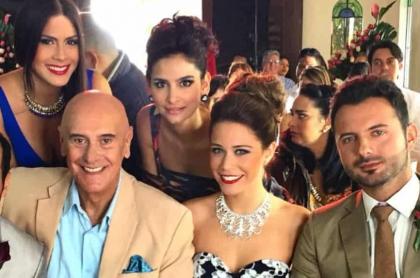 Carlos Enrique Almirante, Katherine Castrillón, Jorge Cao, Diana Hoyos, Sofía Araujo y Mario Espítía, actores.