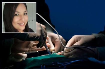 Mujer muerta en procedimiento estético