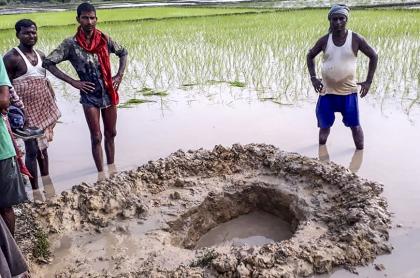 Meteorito en India