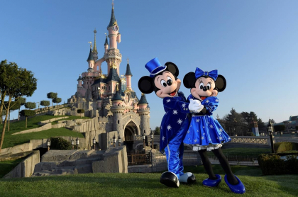 Mickey y Minnie Mouse en Disneyland París