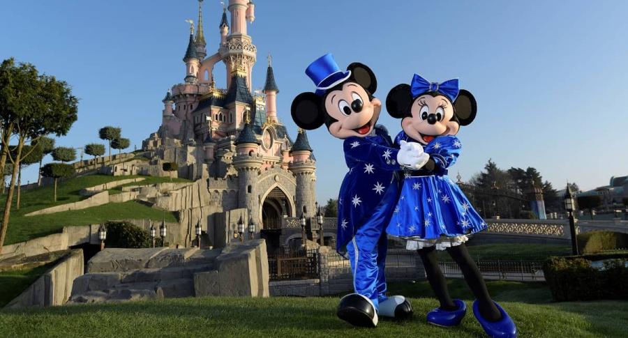 Mickey y Minnie Mouse en Disneyland París