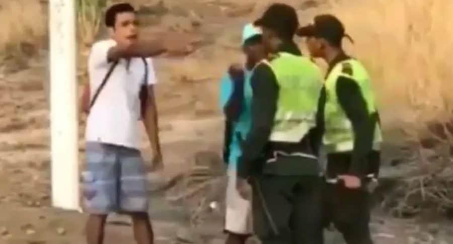 Agresión a policía