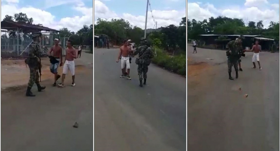 Jóvenes agreden a soldado