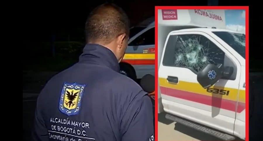 Uno de los tripulantes de la ambulancia atacada