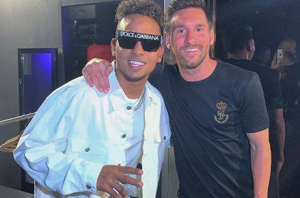 Ozuna y Lionel Messi
