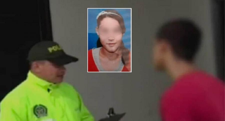Captura de presunto asesino y Ángeles Daniela Peña
