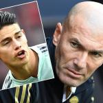 James Rodru00edguez y Zinedine Zidane