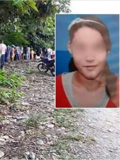 Lugar donde fue hallado el cuerpo de Ángeles Daniela Peña