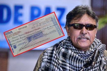 'Jesús Santrich' y su cheque