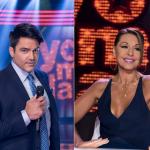 Ernesto Calzadilla, presentador, y Amparo Grisales, actriz.