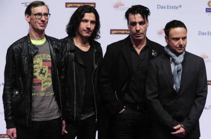Christian Lorenz, Christoph Schneider, Till Lindemann y Paul Landers, integrantes de Rammstein