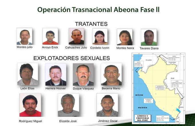 Organización criminal de explotación sexual de niñas indígenas en el Amazonas