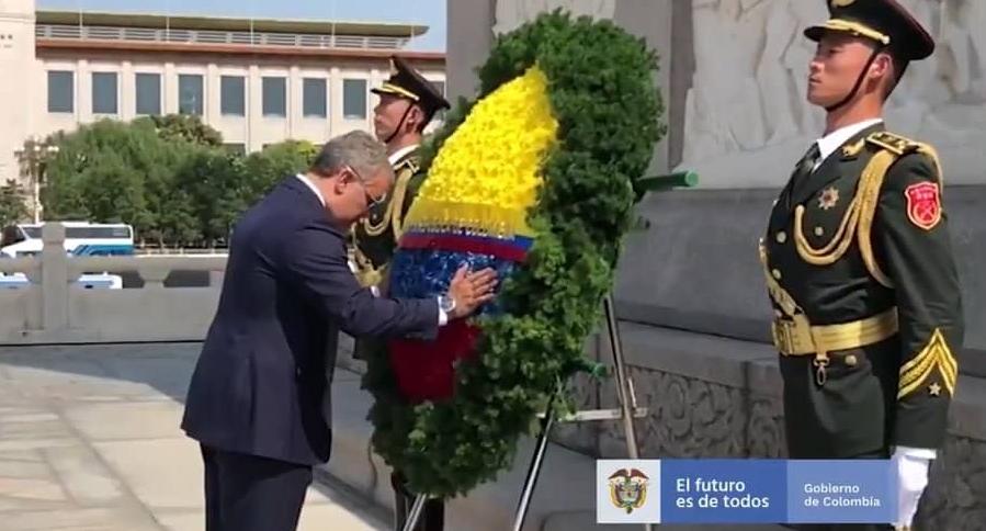 Homenaje de Iván Duque a héroes-comunistas en China